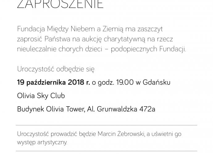 Fundacja Między Niebem a Ziemią - aktualność Aukcja charytatywna Gdańsk