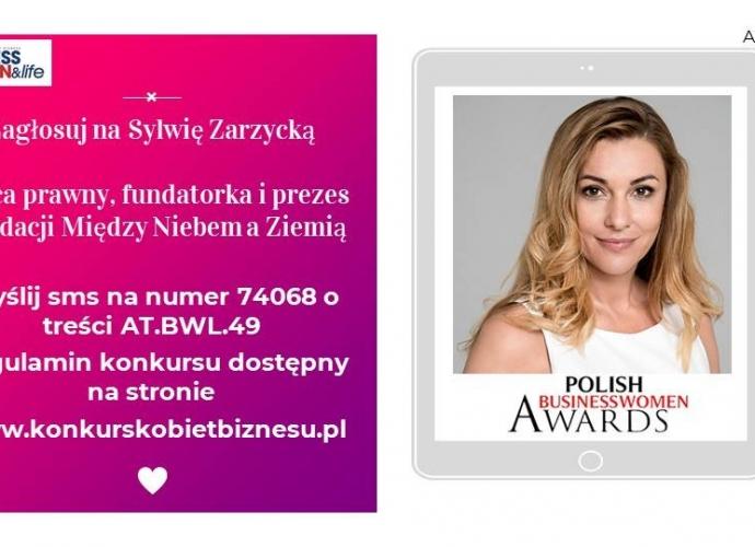 Fundacja Między Niebem a Ziemią - aktualność Zagłosuj na Sylwię Zarzycką :)