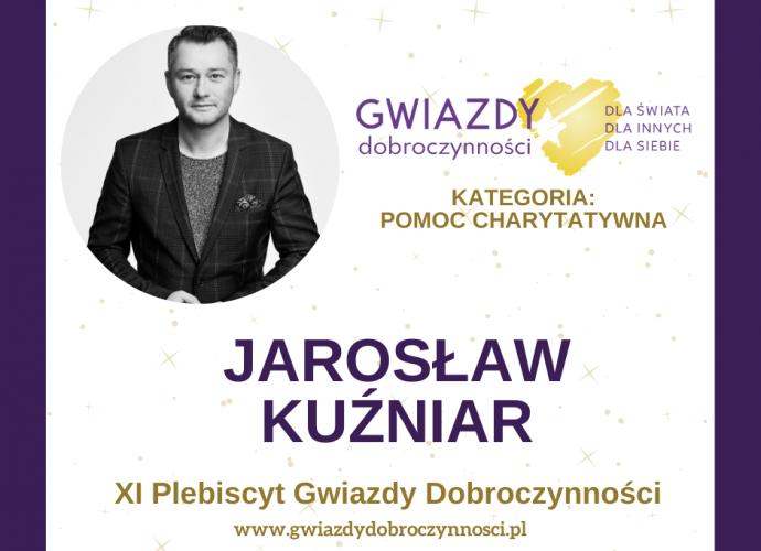 Fundacja Między Niebem a Ziemią - aktualność Nominacja dla Jarosława Kuźniara w konkursie Gwiazdy Dobroczynności