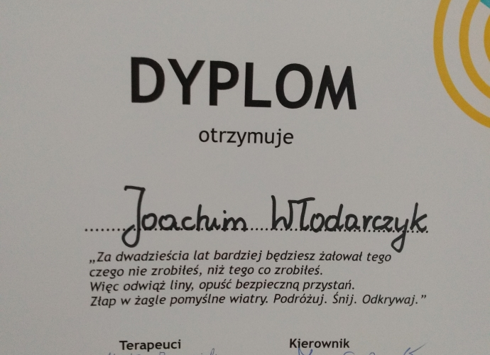 Fundacja Między Niebem a Ziemią - aktualność Turnus rehabilitacyjny Joachima